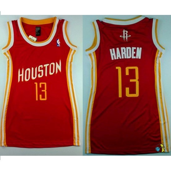 Maillot NBA Femme Houston Rockets NO.13 James Harden Retro Rouge