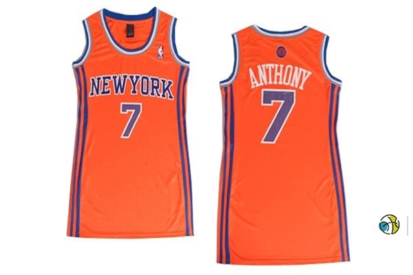 Maillot NBA Femme New York Knicks NO.7 Carmelo Anthony Orange