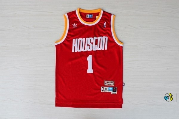 Maillot NBA Houston Rockets NO.1 Tracy McGrady Retro Rouge