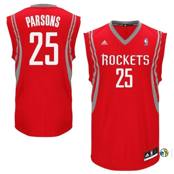 Maillot NBA Houston Rockets NO.25 Chandler Parsons Rouge