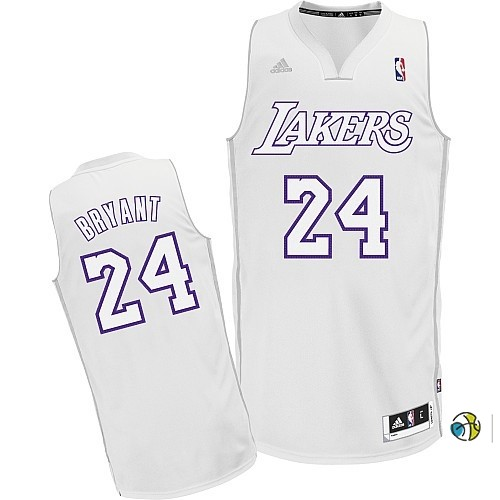 Maillot NBA Los Angeles Lakers 2012 Noël NO.24 Bryant Blanc