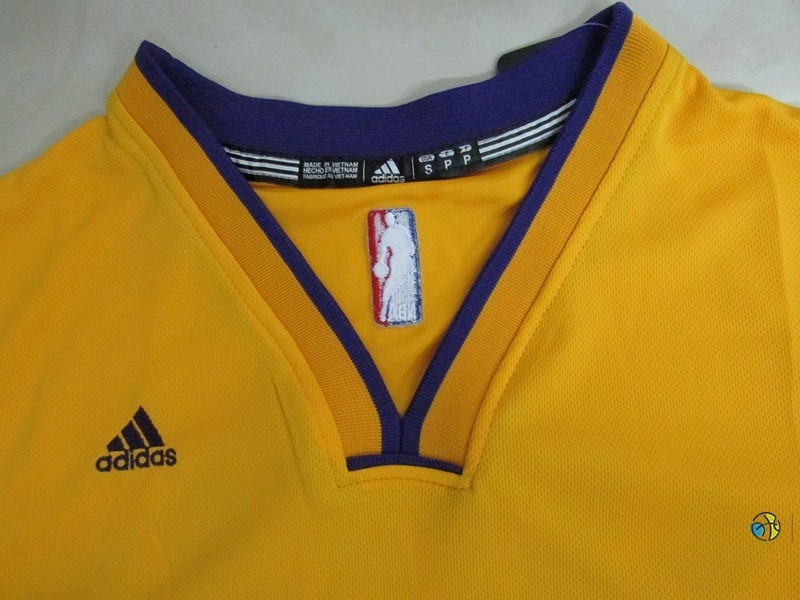Maillot NBA Los Angeles Lakers Manche Courte NO.24 Kobe Bryant Jaune