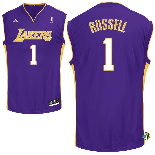 Maillot NBA Los Angeles Lakers NO.1 D'Angelo Russell Pourpre