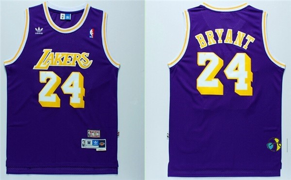 Maillot NBA Los Angeles Lakers NO.24 Kobe Bryant Retro Pourpre