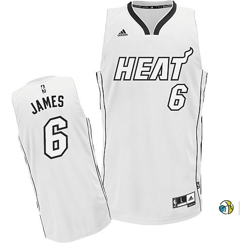 Maillot NBA Miami Heat 2012 Noël NO.6 James Blanc