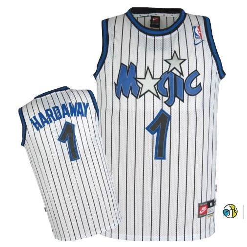 Maillot NBA Orlando Magic NO.1 Anfernee Hardaway Blanc