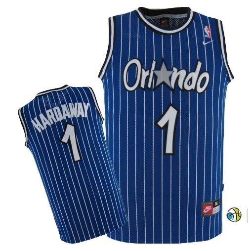 Maillot NBA Orlando Magic NO.1 Anfernee Hardaway Bleu