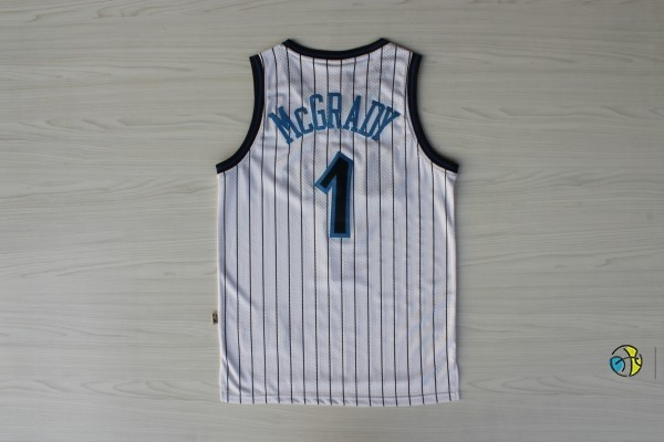Maillot NBA Orlando Magic NO.1 Tracy McGrady Blanc