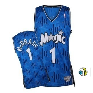 Maillot NBA Orlando Magic NO.1 Tracy McGrady Bleu Sombre