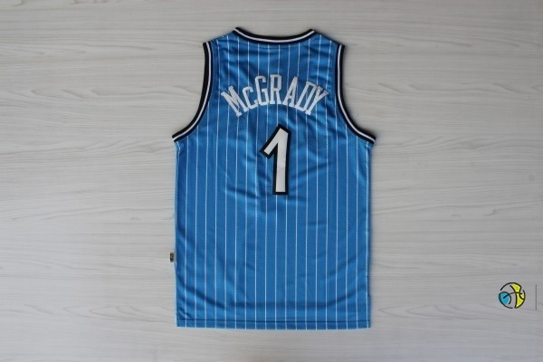 Maillot NBA Orlando Magic NO.1 Tracy McGrady Bleu