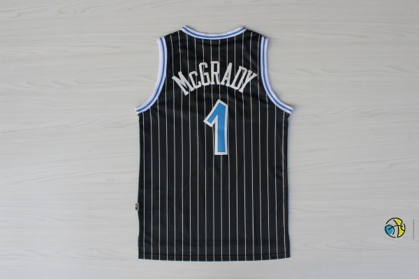 Maillot NBA Orlando Magic NO.1 Tracy McGrady Noir