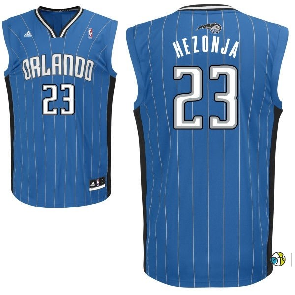 Maillot NBA Orlando Magic NO.23 Mario Hezonja Bleu