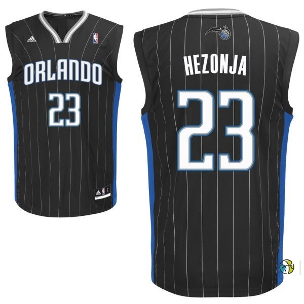 Maillot NBA Orlando Magic NO.23 Mario Hezonja Noir