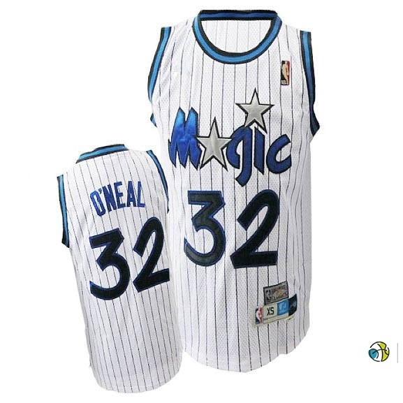 Maillot NBA Orlando Magic NO.32 Shaquille O'Neal Blanc