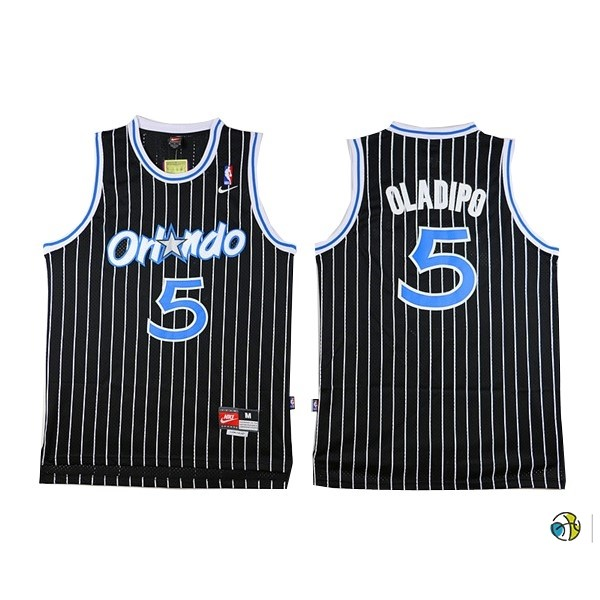 Maillot NBA Orlando Magic NO.5 Victor Oladipo Noir