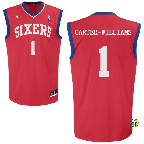 Maillot NBA Philadelphia Sixers NO.1 Michael Carter Williams Rouge