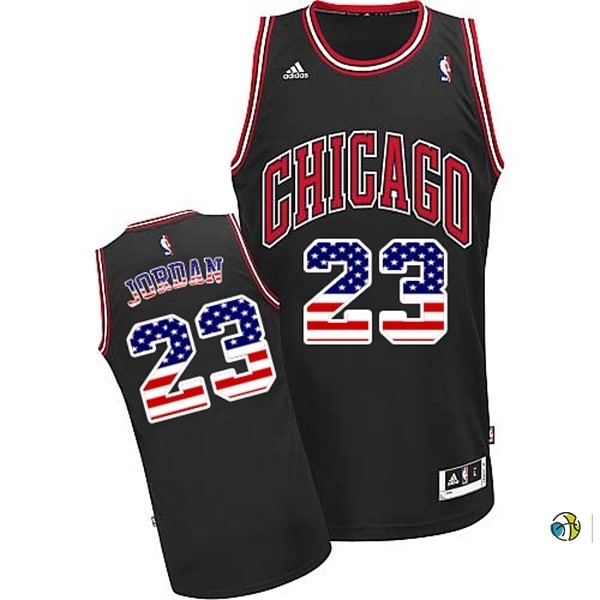 Maillot NBA USA Flag Special Edition NO.23 Jordan Noir