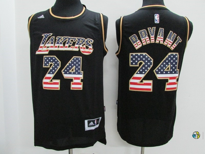 Maillot NBA USA Flag Special Edition NO.24 Bryant Noir