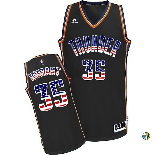 Maillot NBA USA Flag Special Edition NO.35 Durant Noir