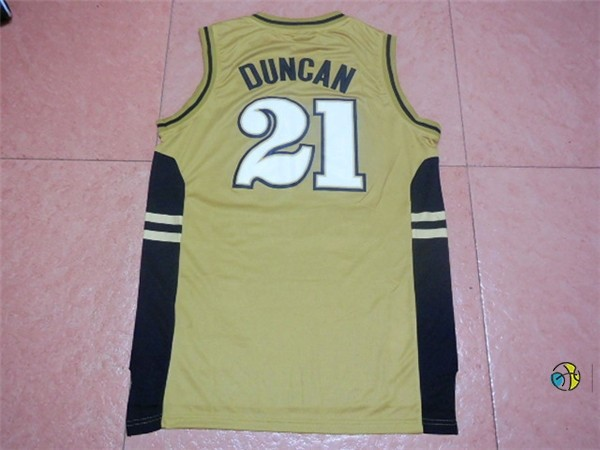 Maillot NCAA Wake Forest NO.21 Tim Duncan Or