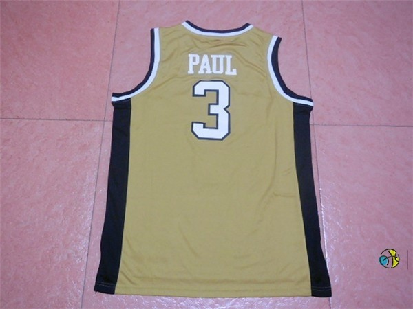 Maillot NCAA Wake Forest NO.3 Chris Paul Or