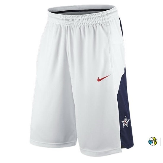 Pantalon Basket 2012 USA Blanc
