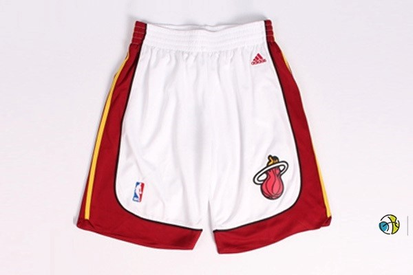 Pantalon Basket Miami Heat Blanc Rouge