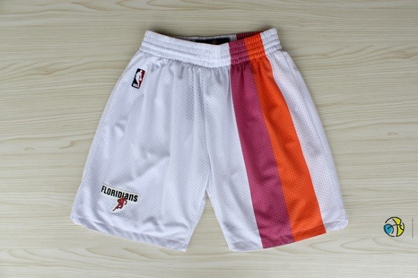 Pantalon Basket Miami Heat Retro Floridians Blanc