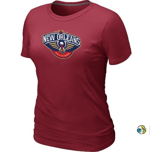 T-Shirt Femme NBA New Orleans Pelicans Bordeaux