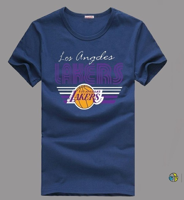 T-Shirt NBA Los Angeles Lakers Encre Bleu 001