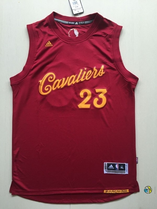 Maillot NBA Cleveland Cavaliers 2016 Noël NO.23 LeBron James Rouge
