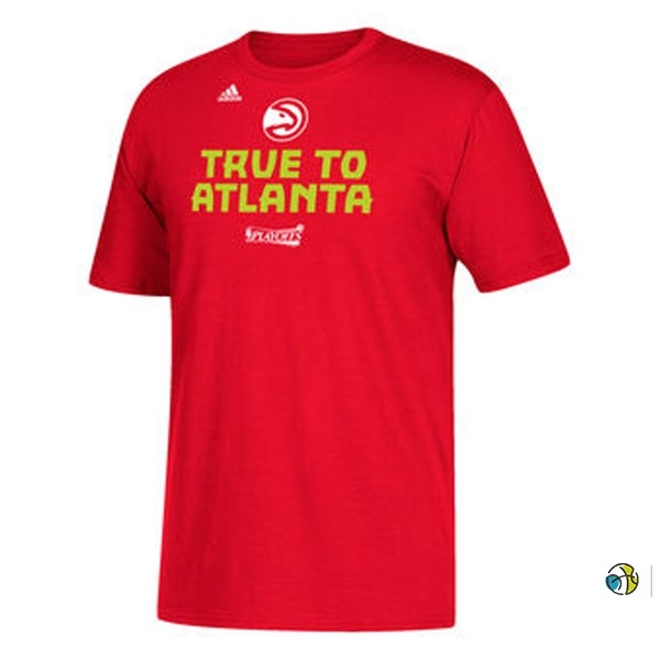 T-Shirt NBA Atlanta Hawks Playoffs Participant Slogan 2017
