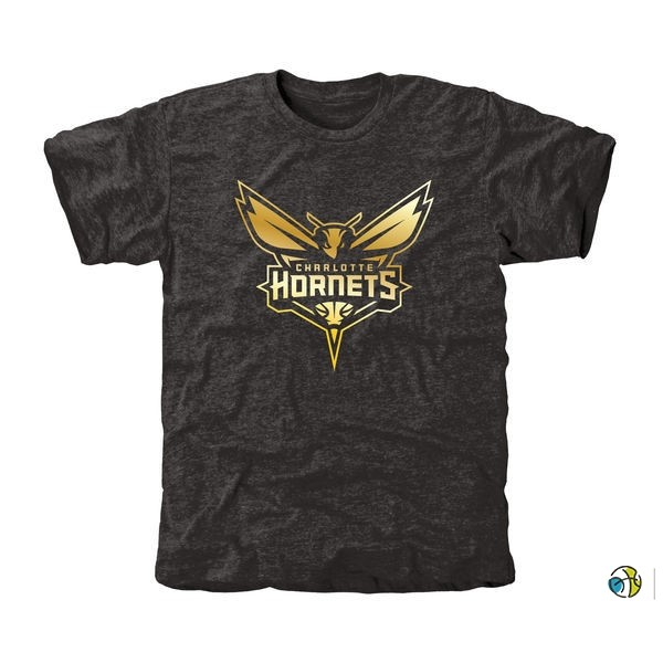 T-Shirt NBA Charlotte Hornets Noir Or